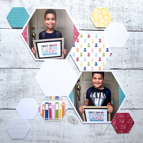 First Day of School Scrapbook Tutorial by Latrice Murphy for Scrapbook Adhesives by 3L Step 8