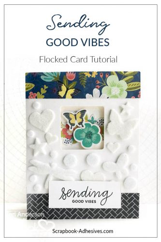Flocked Window Card by Teri Anderson for Scrapbook Adhesives by 3L Pinterest Image