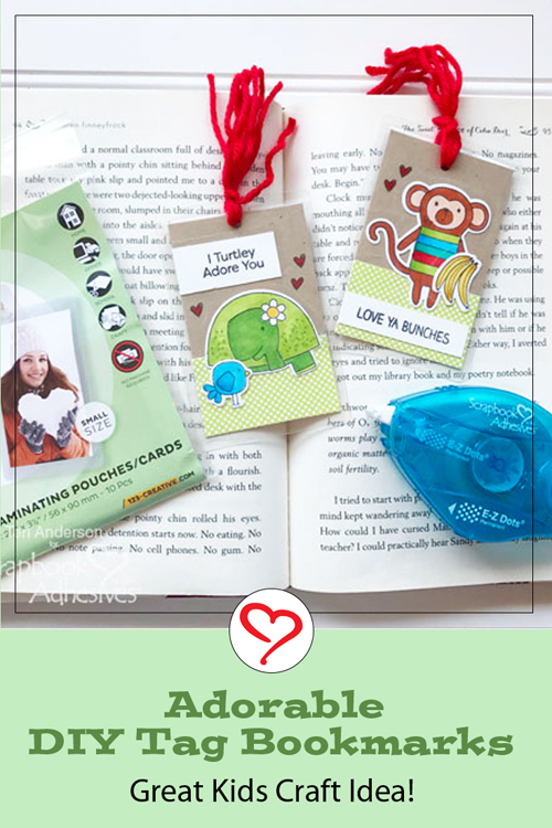 DIY Tag Bookmarks by Teri Anderson For Scrapbook Adhesives by 3L Pinterest Image