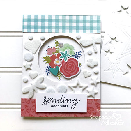 Flocked Window Card by Teri Anderson for Scrapbook Adhesives by 3L