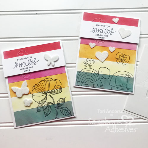 How to use Flock with 3D Foam Shapes by Teri Anderson for Scrapbook Adhesives by 3L Main 4