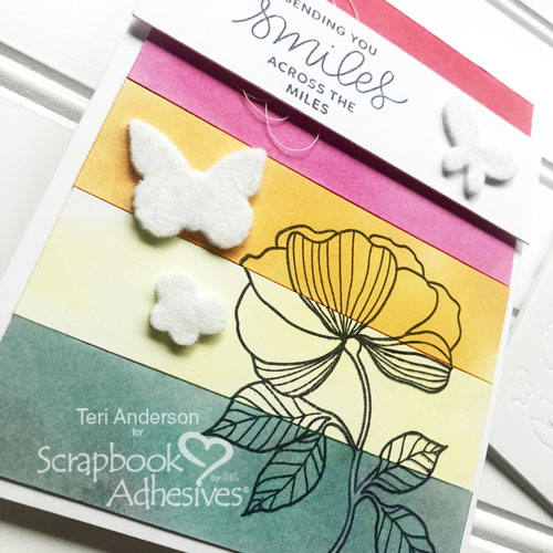 How to use Flock with 3D Foam Shapes by Teri Anderson for Scrapbook Adhesives by 3L Close Up 1