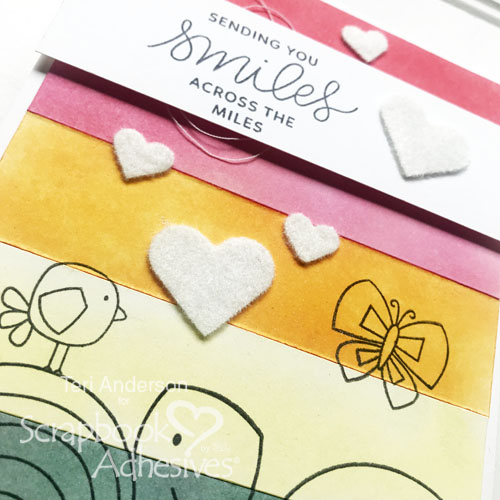 How to use Flock with 3D Foam Shapes by Teri Anderson for Scrapbook Adhesives by 3L Close Up 2