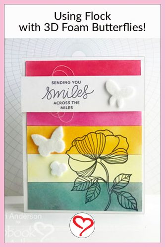 How to use Flock with 3D Foam Shapes by Teri Anderson for Scrapbook Adhesives by 3L