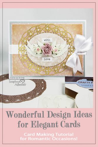 Winged Love Card Tutorial by Yvonne van de Grijp for Scrapbook Adhesives by 3L
