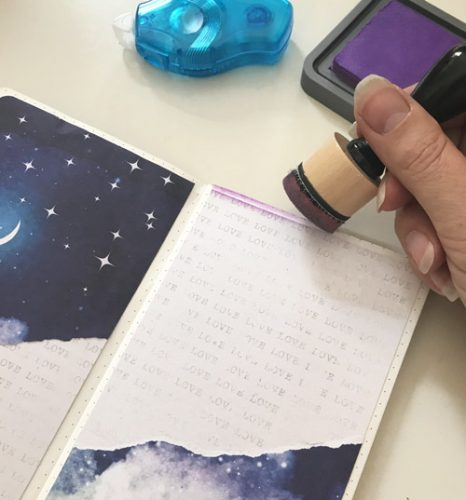 To the Moon and Back Journal Page Tutorial by Yvonne van de Grijp for Scrapbook Adhesives by 3L