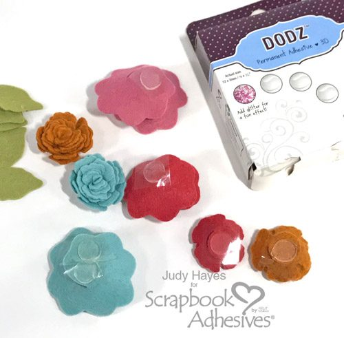 No Sew Monogram Hoop with Felt Flowers by Judy Hayes for Scrapbook Adhesives by 3L