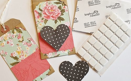 Tags with Hearts and Flowers Tutorial by Christine Emberson for Scrapbook Adhesives by 3L