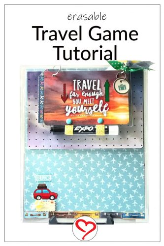 Explore Your World Travel Games by Shellye McDaniel for Scrapbook Adhesives by 3L Pinterest Image