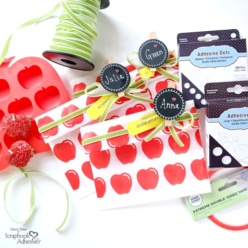 Sweet Apple Treat Bags for Back to School by Dana Tatar for Scrapbook Adhesives by 3L