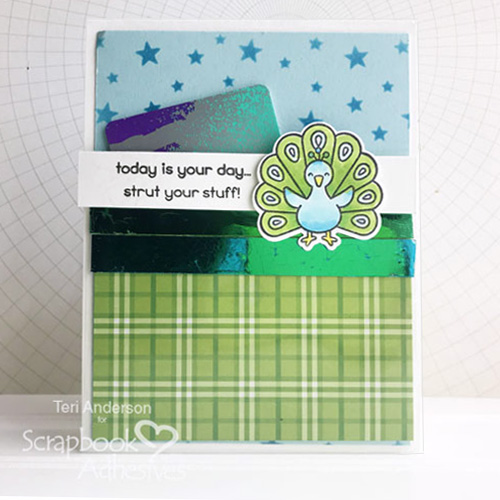 Card with Hidden Gift Card Pocket Tutorial by Teri Anderson for Scrapbook Adhesives by 3L