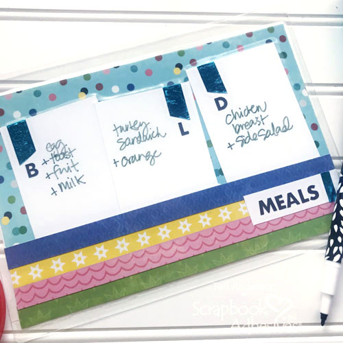 Meal Planning Wipe Board by Teri Anderson for Scrapbook Adhesives by 3L