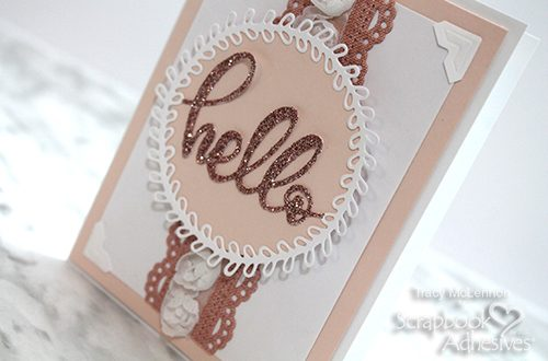 Hello Card with Texture by Tracy McLennon for Scrapbook Adhesives by 3L