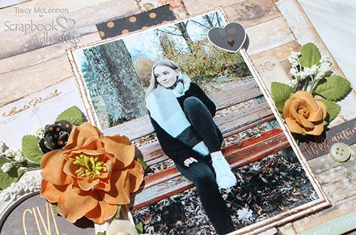 Scrapbook for Fall with Dimension by Tracy McLennon for Scrapbook Adhesives by 3L