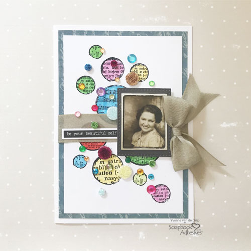 Dotted Card with 3D Foam Circles by Yvonne van de Grijp for Scrapbook Adhesives by 3L Image 3