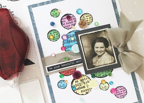 Dotted Card with 3D Foam Circles by Yvonne van de Grijp for Scrapbook Adhesives by 3L Close Up
