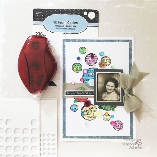 Dotted Card with 3D Foam Circles by Yvonne van de Grijp for Scrapbook Adhesives by 3L Image 2