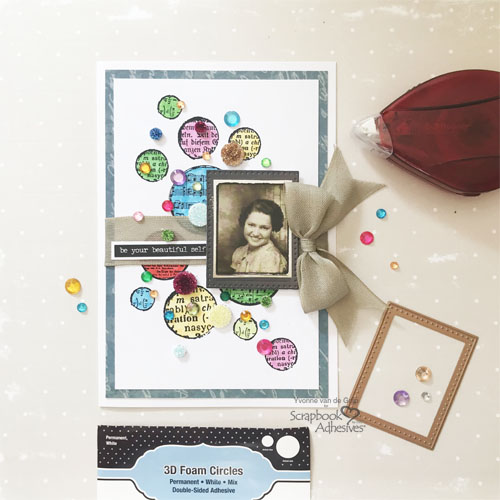 Dotted Card with 3D Foam Circles by Yvonne van de Grijp for Scrapbook Adhesives by 3L Image 4