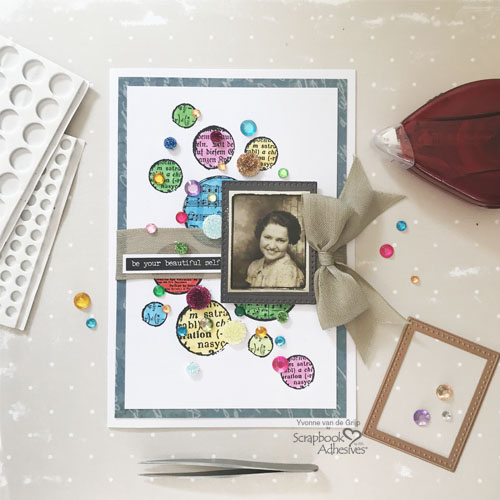 Dotted Card with 3D Foam Circles by Yvonne van de Grijp for Scrapbook Adhesives by 3L