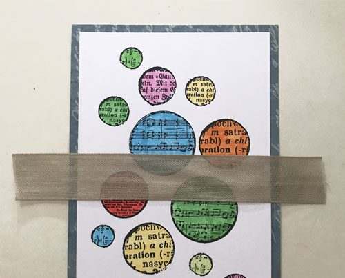 Dotted Card with 3D Foam Circles by Yvonne van de Grijp for Scrapbook Adhesives by 3L Step 2