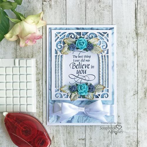 Romantic Believe in You Card Tutorial by Yvonne van de Grijp for Scrapbook Adhesives by 3L
