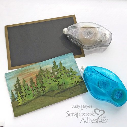 Layered Landscape Scene Card Tutorial by Judy Hayes for Scrapbook Adhesives by 3L