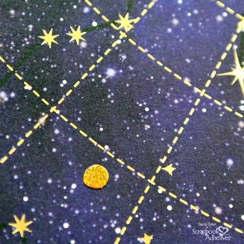 Twinkle Stars using Adhesive Dots, by Dana Tatar for Scrapbook Adhesives by 3L