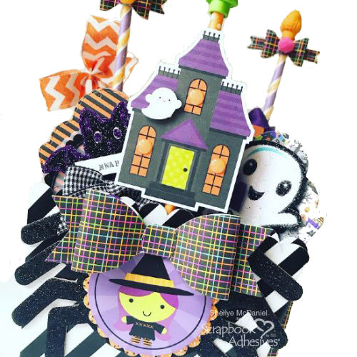 Halloween Popcorn Box Pocket Mail Tutorial by Shellye McDaniel for Scrapbook Adhesives by 3L