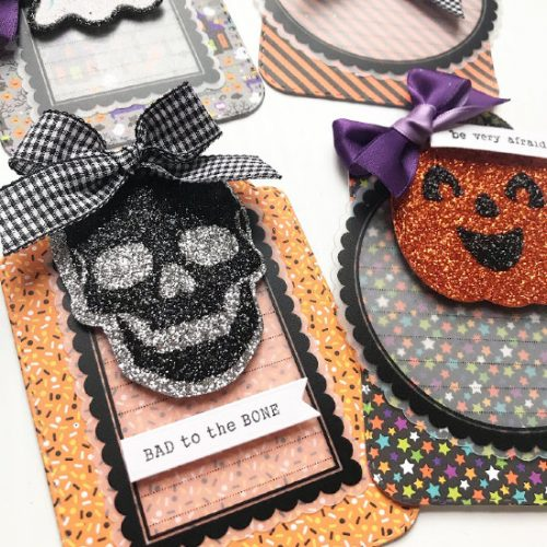 Halloween Popcorn Bucket Pocket Mail Tutorial by Shellye McDaniel for Scrapbook Adhesives by 3L