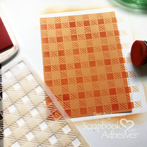 stenciling on a card, Hello Pumpkin Card by Teri Anderson for Scrapbook Adhesives by 3L