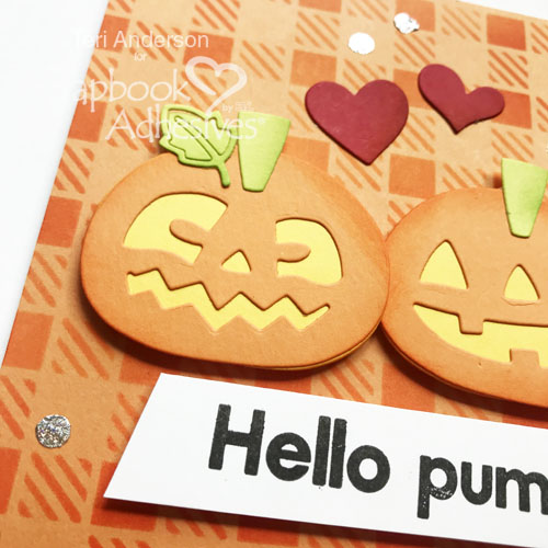 Hello Pumpkin Card by Teri Anderson for Scrapbook Adhesives by 3L