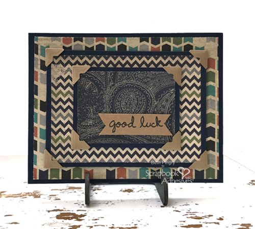 Good Luck card using Thin 3D Foam Squares + Card Mailing Tip by Beth Pingry for Scrapbook Adhesives by 3L