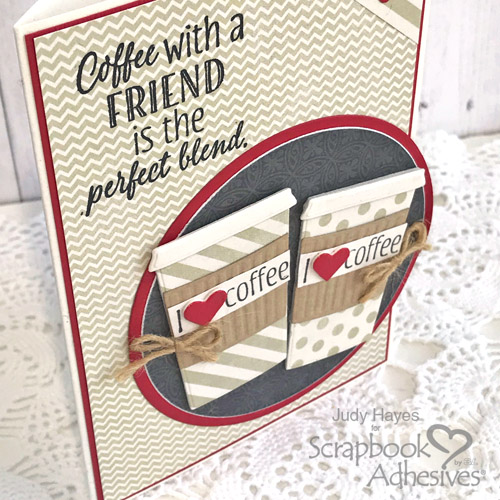 I Love Coffee Card by Judy Hayes for Scrapbook Adhesives by 3L