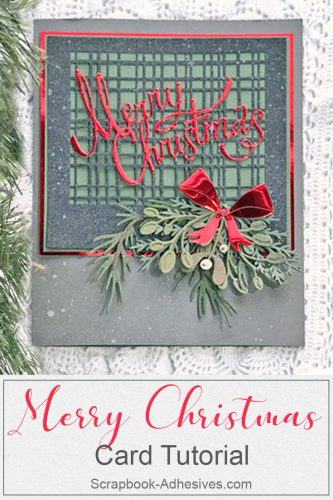 Shiny Merry Christmas Card by Judy Hayes for Scrapbook Adhesives by 3L Pinterest