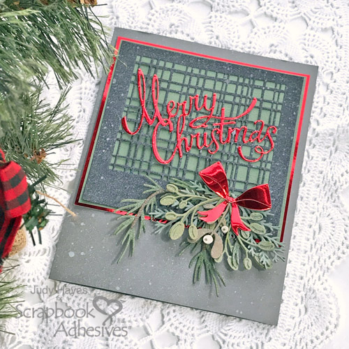 Shiny Merry Christmas Card by Judy Hayes for Scrapbook Adhesives by 3L