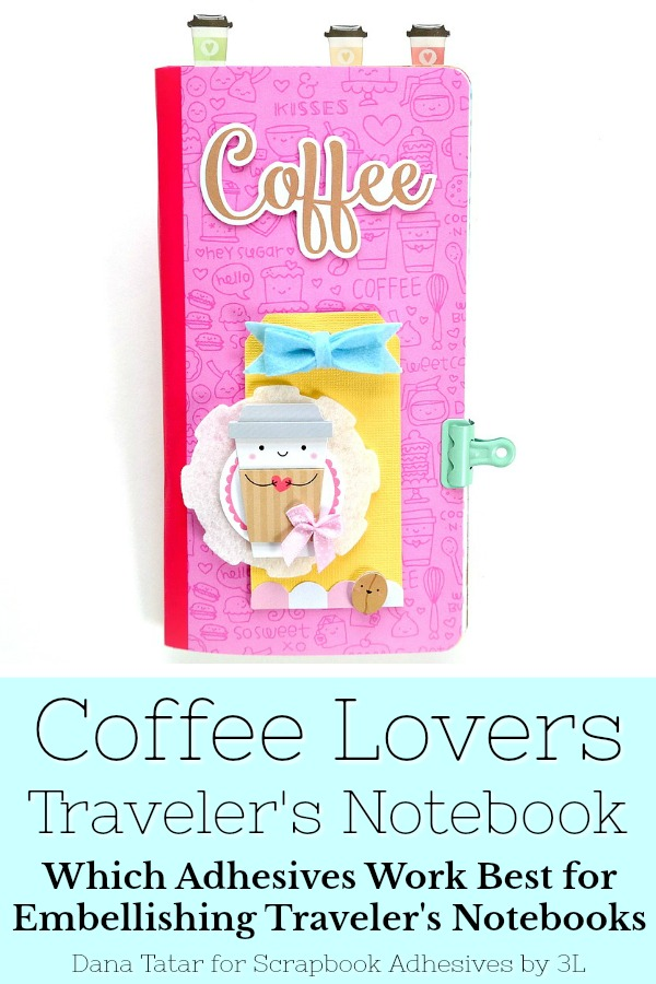 Coffee Lovers Traveler's Notebook Insert with Recipes by Dana Tatar for Scrapbook Adhesives by 3L