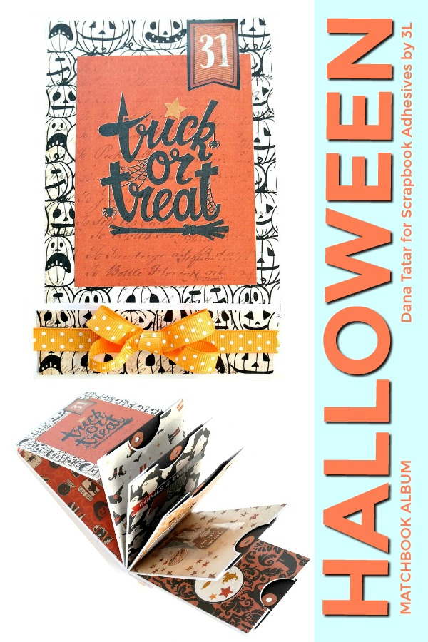 Halloween Matchbook Album  by Dana Tatar for Scrapbook Adhesives by 3L