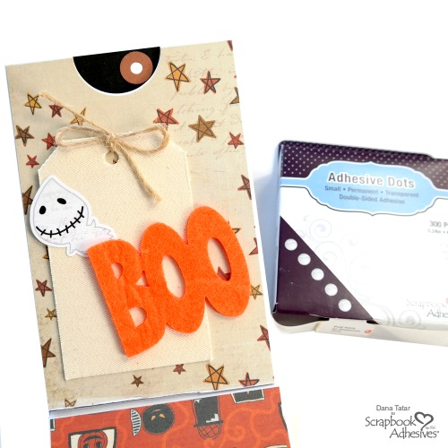 How to Secure Textured Embellishments Like Canvas and Felt with Adhesive Dots by Dana Tatar for Scrapbook Adhesives by 3L