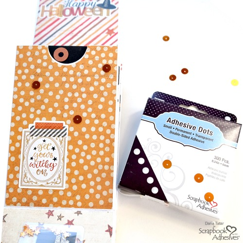 How to Use Small Adhesive Dots with Sequins  by Dana Tatar for Scrapbook Adhesives by 3L