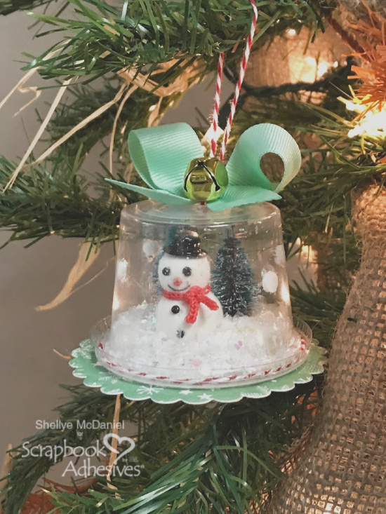 On Tree Branch Snow Globe Shaker Ornament by Shellye McDaniel for Scrapbook Adhesives by 3L
