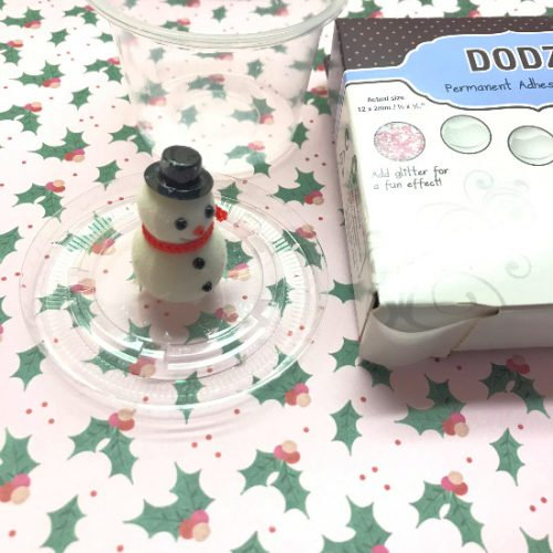 Step 1 Snow Globe Shaker Ornament by Shellye McDaniel for Scrapbook Adhesives by 3L