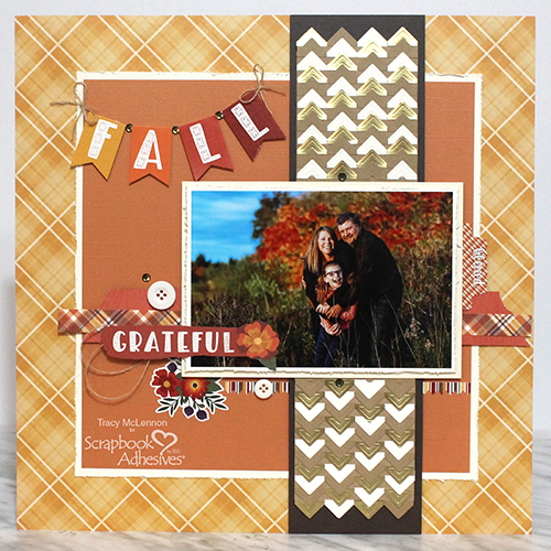 Create a Layered Border on a Fall Scrapbook Layout by Tracy McLennon for Scrapbook Adhesives by 3L