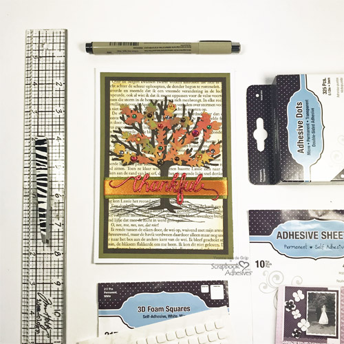 Foiled Thankful Card Tutorial by Yvonne van de Grijp for Scrapbook Adhesives by 3L