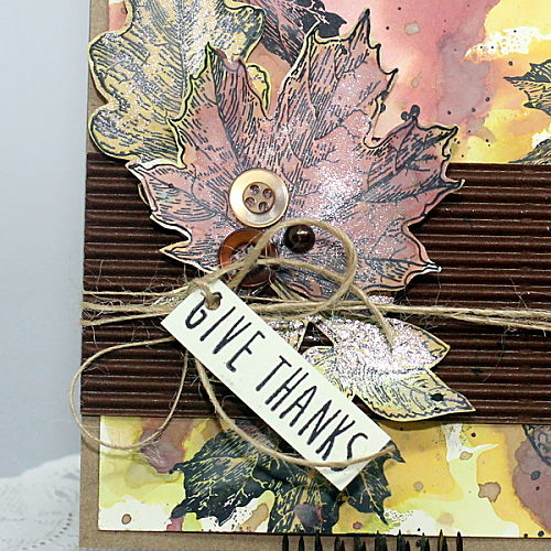 Give Thanks Stamped Card Tutorial by Connie Mercer for Scrapbook Adhesives by 3L