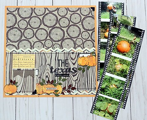 Step 1 Pumpkin Patch Pocket Page by Connie Mercer for Scrapbook Adhesives by 3L