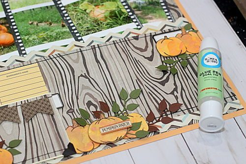 Step 7 Pumpkin Patch Pocket Page by Connie Mercer for Scrapbook Adhesives by 3L