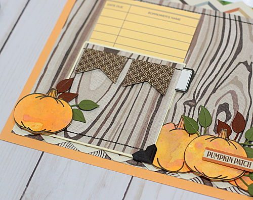 Step 8 Pumpkin Patch Pocket Page by Connie Mercer for Scrapbook Adhesives by 3L