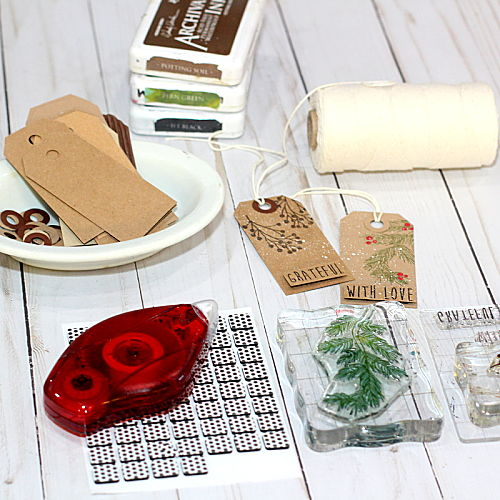 Holiday Kraft Gift Tag Tutorial by Connie Mercer for Scrapbook Adhesives by 3L