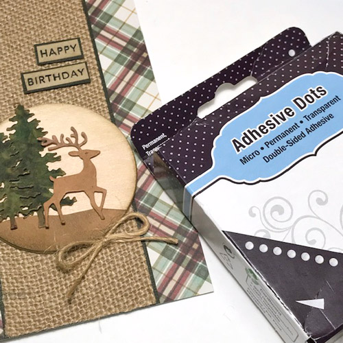 Masculine Birthday Card Tutorial by Judy Hayes for Scrapbook Adhesives by 3L