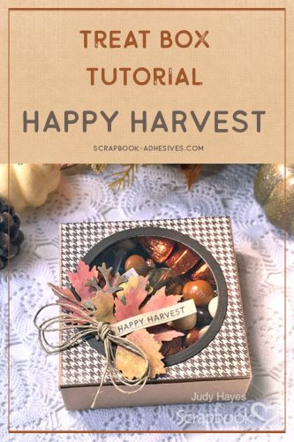 Happy Harvest Treat Box by Judy Hayes for Scrapbook Adhesives by 3L Pinterest